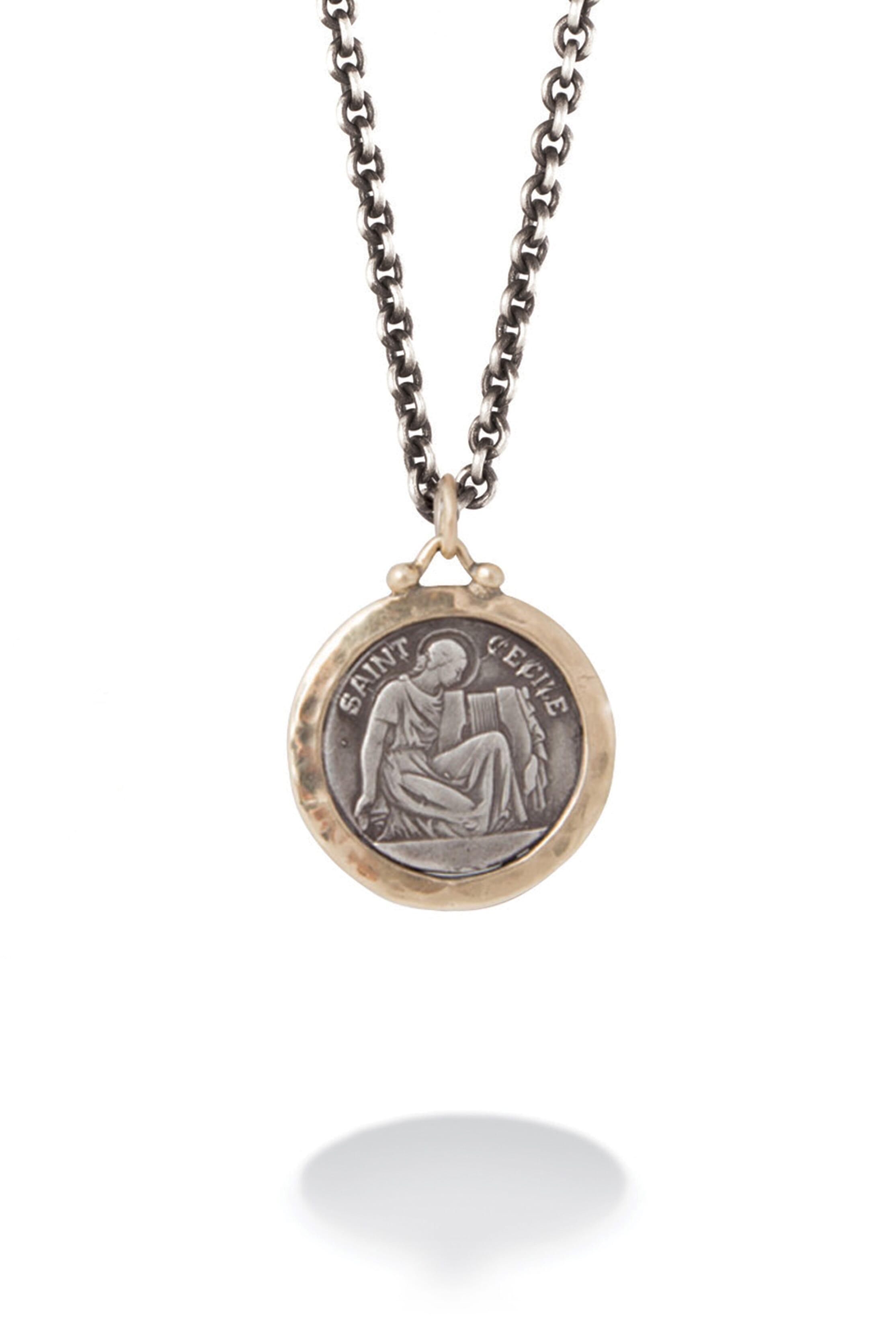 products chritopher christopher saint necklace medallion st gms silver