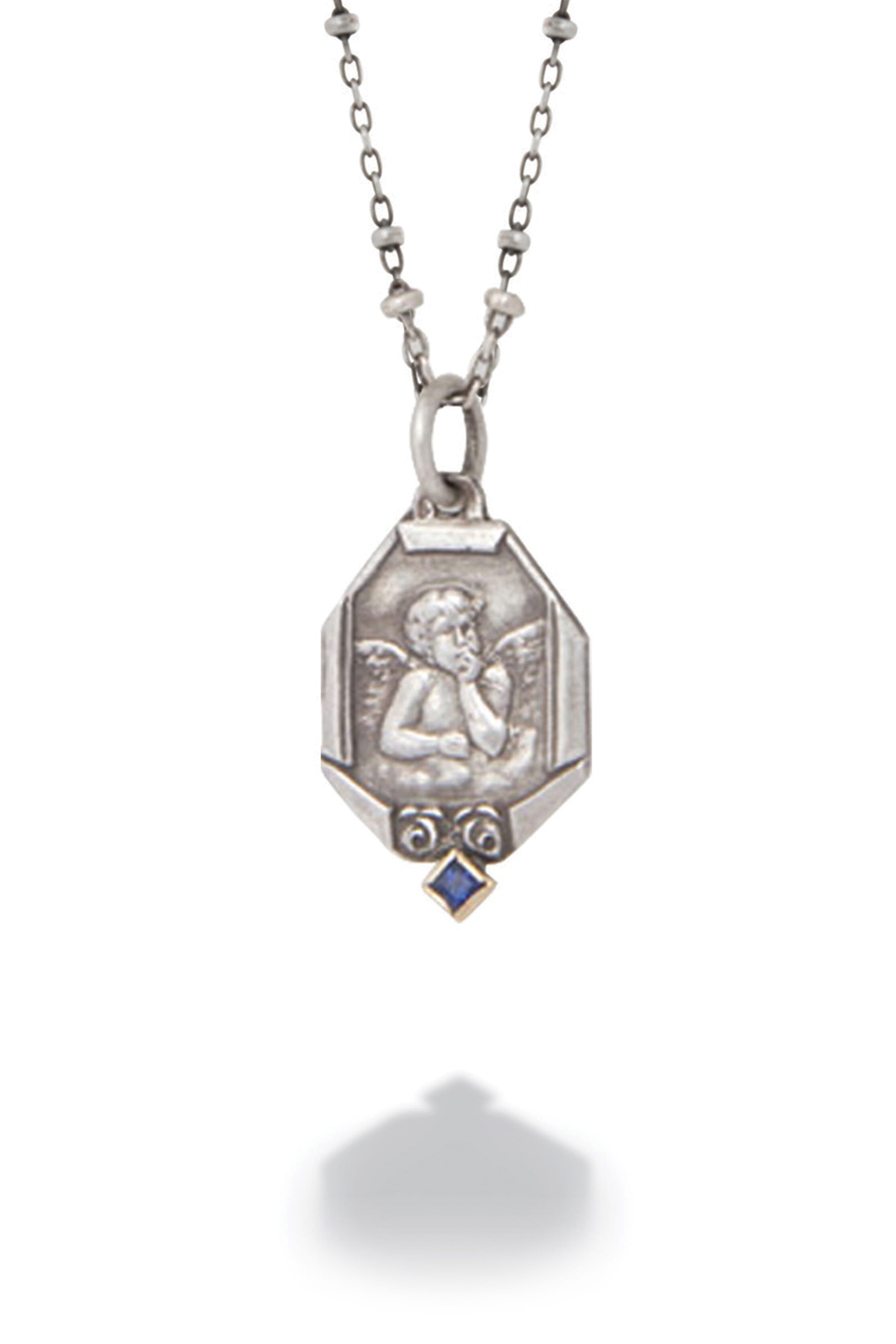 catholic miraculous childrens children medal oval s saint medallion chain petite the